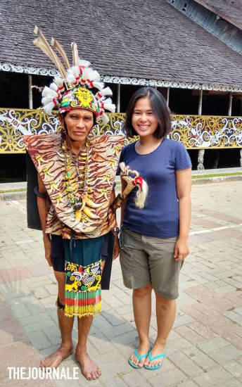Simson Imang tetua adat Desa Budaya Pampang