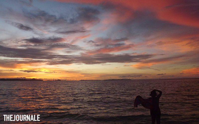 Matahari tenggelam Pulau Panjang